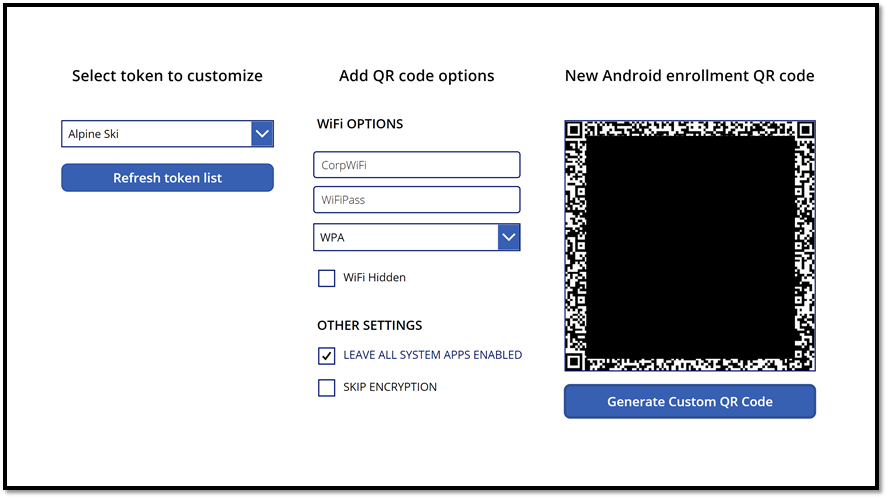 Custom QR code for Android Enterprise enrollment with MEM Intune