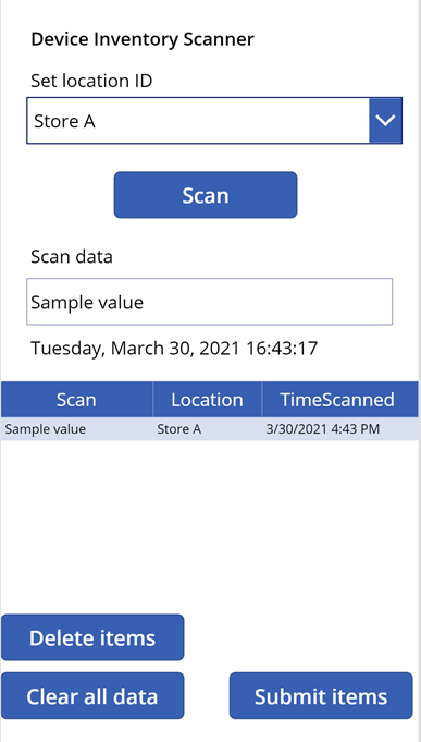 Barcode scanning with Power Apps – collecting device inventory for Microsoft Endpoint Manager